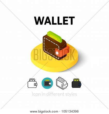 Wallet icon in different style
