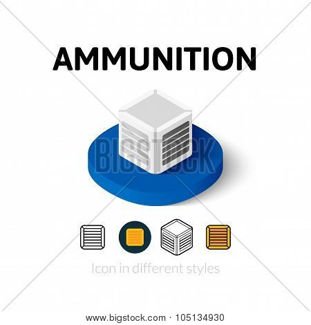 Ammunition icon in different style