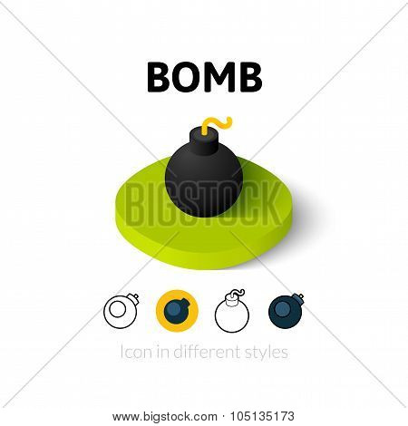 Bomb icon in different style