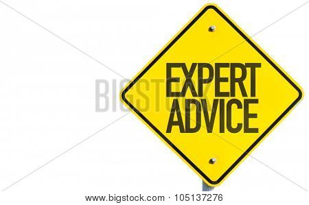 Expert Advice sign isolated on white background