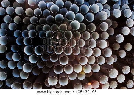 Background of plastic pipes