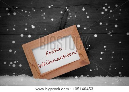 Frame, Frohe Weihnachten Means Merry Christmas, Snow, Snowflakes