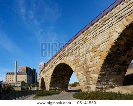 Stone Arch Bridge In Minneapolis 2
