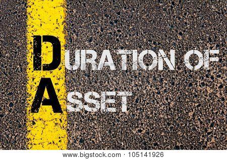 Business Acronym Da As Duration Of Asset