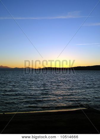 Late Taupo At Sunset, Taupo, New Zealand