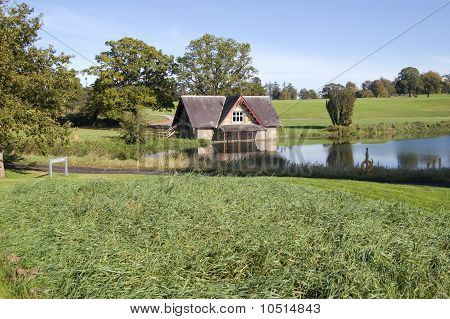 picturesque boat house