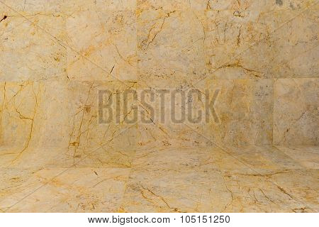 Marble Patterned On Wall And Floor