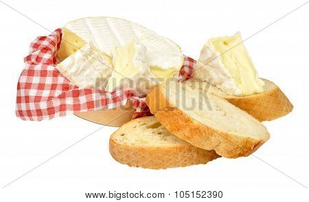 Camembert Cheese And Crusty Bread