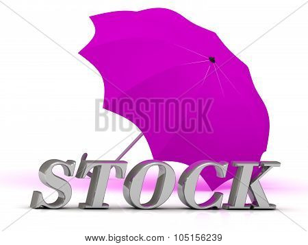 Stock- Inscription Of Silver Letters And Umbrella