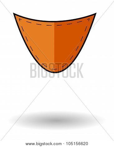 Orange Pocket Vector Icon