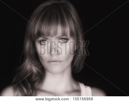 Nice image of a Beautiful Woman on Black