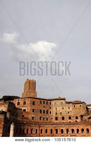 Trajan's Market (mercati Di Traiano) In Rome, Italy