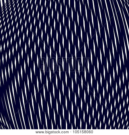Moire Style, Vector Gradient Optical Pattern, Motion Effect Tile. Decorative Lined Hypnotic Contrast