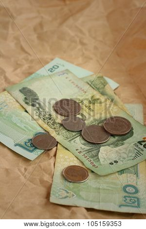 Thailand Baht Banknotes With Thailand Baht Coins.?