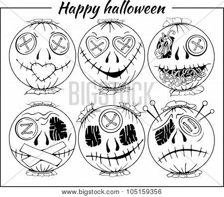 black and white halloween-style smiles of horror