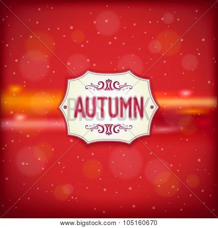 Autumn retro label