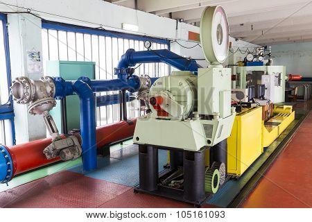 Laboratory In School. Metal Tubes