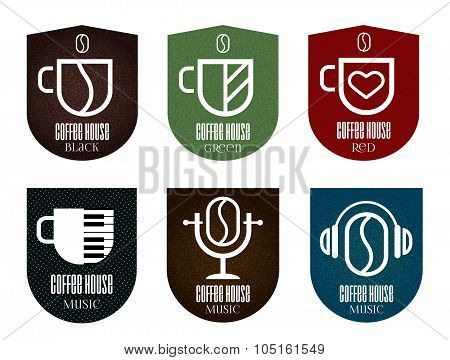 Set of coffee icons.