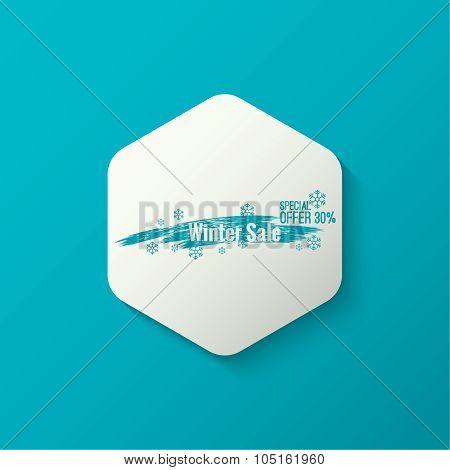 Hexagon with brushstroke