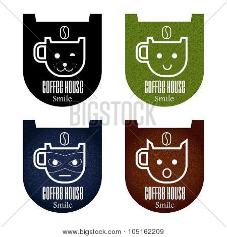 Set coffee icons.