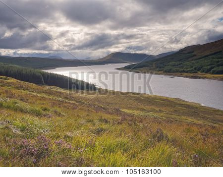 Lookout over Loch Ness, Scotland