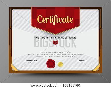Certificate Template, Diploma Design, Border Frame Template. Vector Illustration