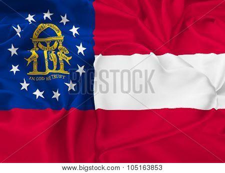 State Flag Of Georgia