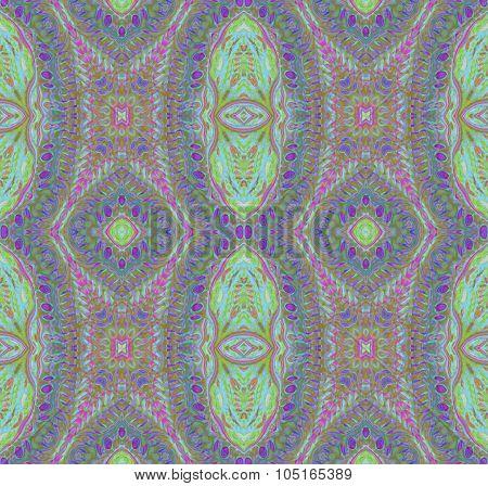 Seamless ellipses pattern purple green