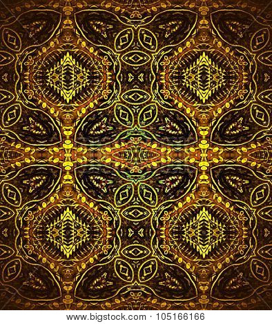 Seamless ornaments brown yellow