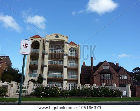 Building around Perth city