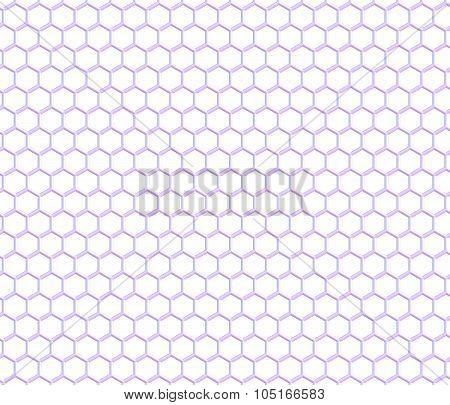 Graphene Sheet, planar layer of sp2-bonded carbon, on white background. 3D illustration