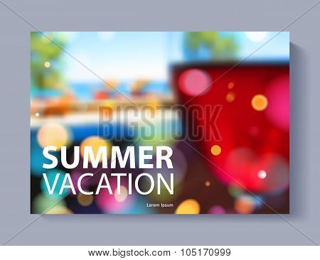 Cover design vector illustration - travel theme.