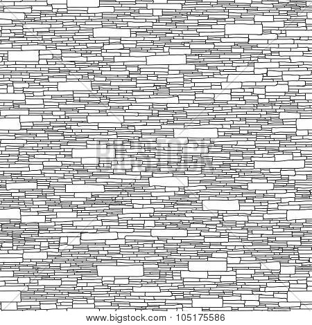 Seamless Brick Wall Background (hand Drawn).