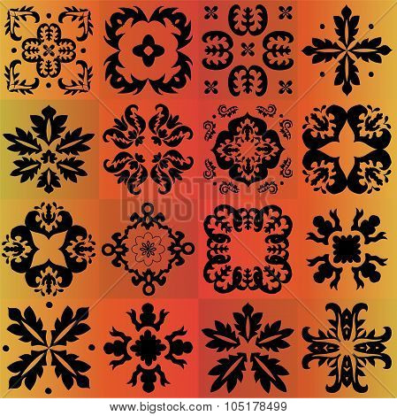 Seamless Pattern Majolica, Arabic, Indian, Armenia. Stock Vector Illustration