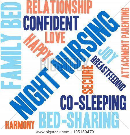 Night Nursing Word Cloud