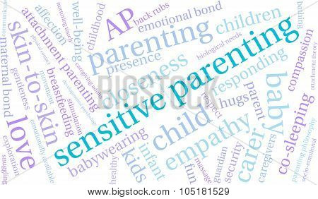 Sensitive Parenting Word Cloud