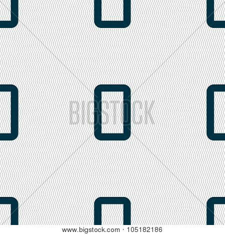 Number Zero Icon Sign. Seamless Abstract Background With Geometric Shapes. Vector