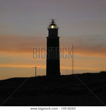 Lighthouse At Daybreak, De Cocksdorp, Texel Island, Netherlands