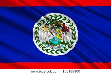 Flag Of Belize, Belmopan
