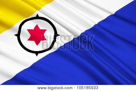 Flag Of Bonaire, St. Eustatius And Saba (caribbean Netherlands)
