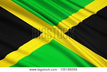 Flag Of Jamaica, Kingston