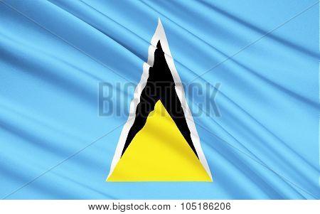 Flag Of Saint Lucia - Caribbean, Castries