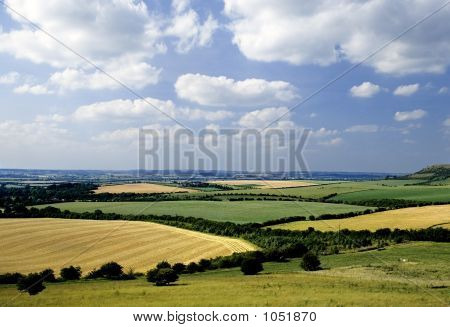Rolling English Countryside The Chilterns Buckinghamshire Home Counties England Uk