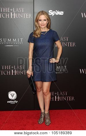 NEW YORK-OCT 13: Actress Kelly Preston attends the 'The Last Witch Hunter' New York premiere at AMC Loews Lincoln Square on October 13, 2015 in New York City.