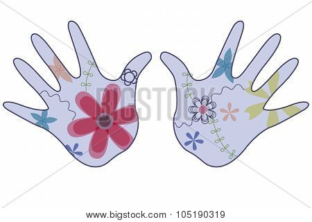 baby hand painted silhouettes