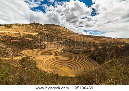Concentric Terraces In Moray, Sacred Valley, Peru