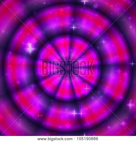 Purple violet magic ring stars pattern