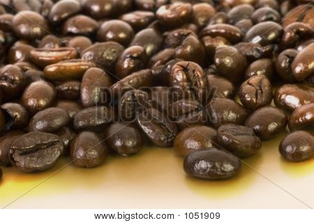Coffee Beans On Gold