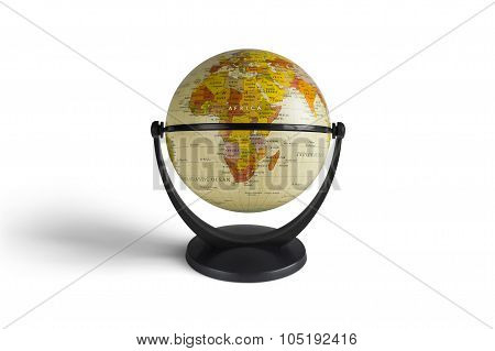 Globe model in white background