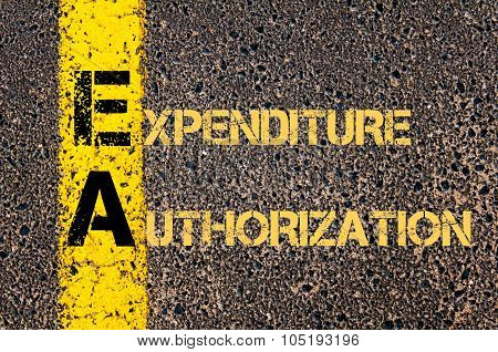Business Acronym Ea As Expenditure Authorization